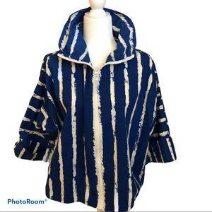Teddi Vintage blue white striped jacket 80's 70's